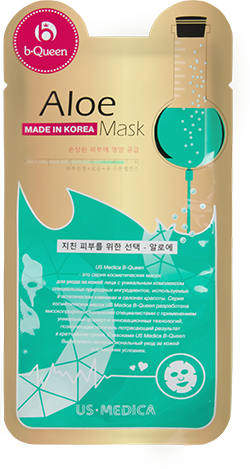 Маска для лица с экстрактом алоэ US MEDICA Aloe Mask